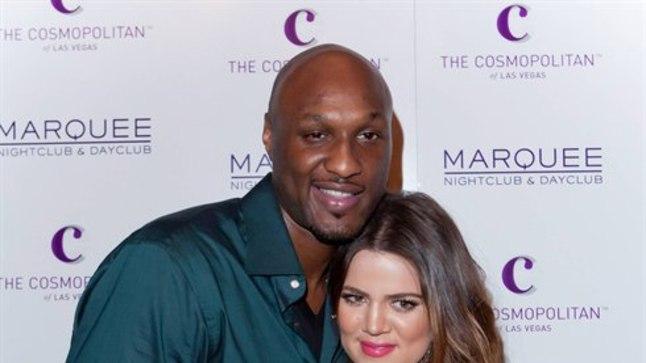 Khloe Kardashian koos abikaasa Lamar Odomiga.