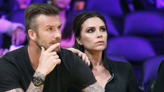 David ja Victoria Beckham LA Lakersi mängul.