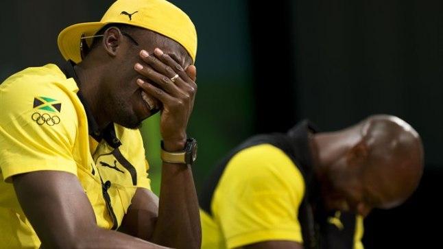 Kui Usain Bolt oma valest tõlgendusest aru sai, naeris temagi.