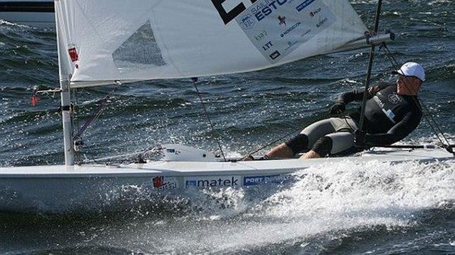 KAHE JALAGA VEE PEAL: Karl-Martin Rammo pole olümpial tõusnud eufooriasse.
