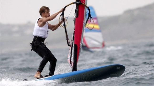 Johannes Ahun Londoni olümpiavetel.