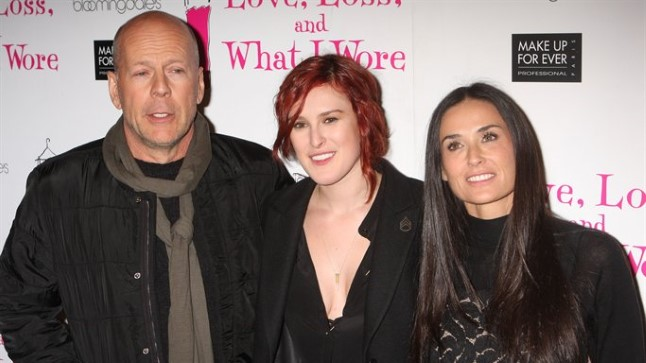 Bruce Willis, Rumer Willis ja Demi Moore.