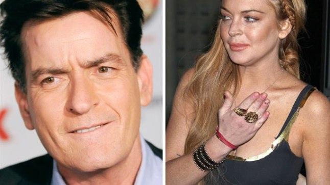 Charlie Sheen ja Lindsay Lohan.