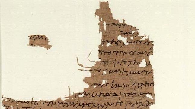 Ilmselt 5. sajandil papüürusele kantud koptikeelne tekst Maarja sõnumitega, leitud Kairost 1896. aastal. Praegu asub Ashmole'i muuseumis Oxfordis. Repro