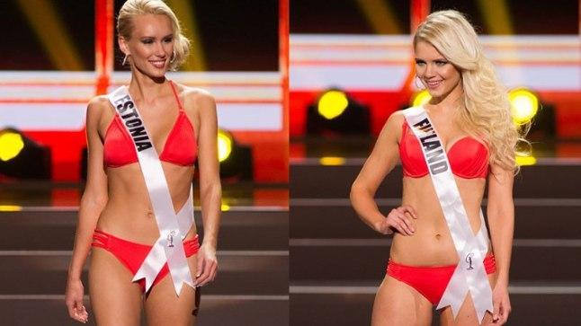 "Moskvas ""Miss Universumil"" Eestit esindav Kristina Karjalainen (vasakul) ja Soome miss Lotta Hintsa."