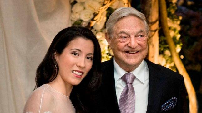 Miljardär George Soros ja tema abikaasa Tamiko Bolton.