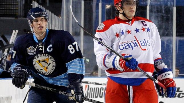 Aleksander Ovetškin (paremal) ja Sidney Crosby - kaks hokimaailma absoluutset tippu hakkavad kuu aja pärast heitlema olümpiakulla eest.