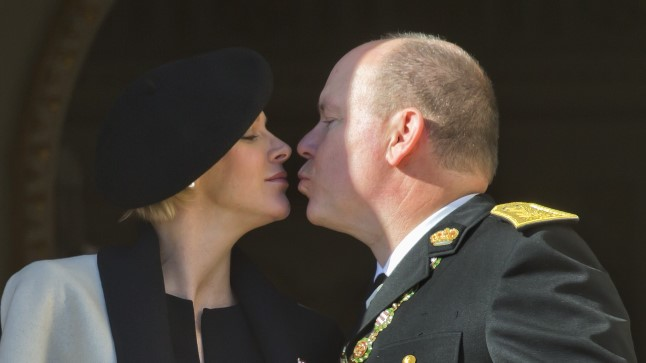 Monaco vürstinna Charlene ja vürst Albert novembris.