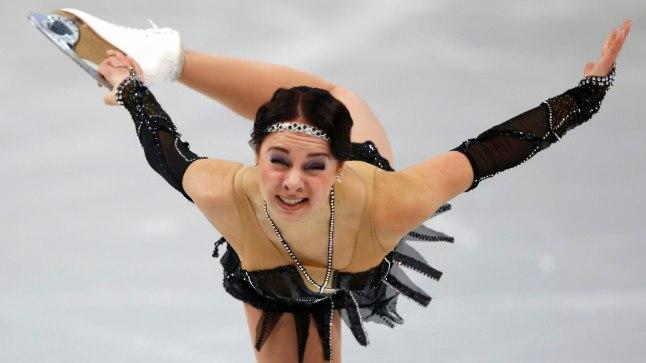 Tänavu Euroopa meistrivõistlustel 7. koha pälvinud Jelena Glebova lühikava läks kahjuks aia taha.