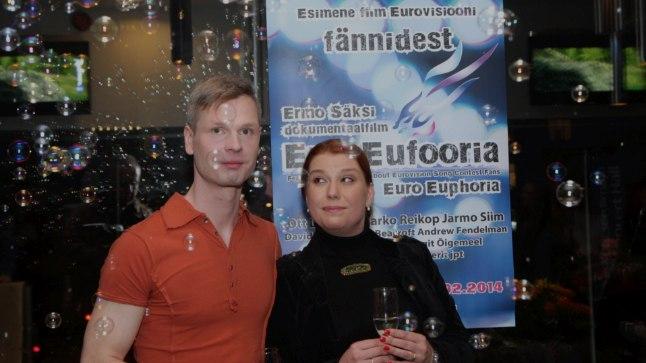 """Ermo Saksi täispika dokfilmi """"EuroEufooria"""" esilinastus kinos Artis 20. veebruaril 2014."""