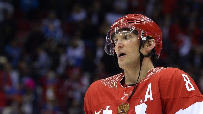 Venemaa jäähokikoondise ründaja Aleksandr Ovetškin.