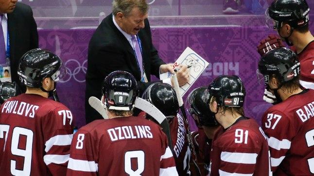 Läti hokimeeskond Sotši olümpial.