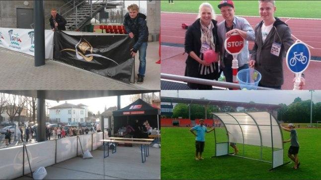 Kui tribüün ja vutimuru on sisuliselt statsionaarsed, siis kõike muud saab staadionil liigutada küll. Fotodel stiilinäited Tamme staadionilt.