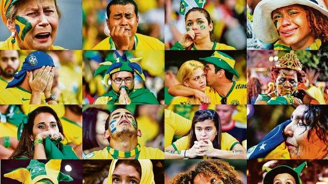 RAHVUSLIK KATASTROOF: Jalgpallimeeskonna 1:7 kaotus Saksamaale MMi poolfinaalis vallandas Brasiilias pisarate, kurbuse ja ahastuse laviini. Jalgpallipidu on võõrustajate jaoks mokas ja lohutust lihtsalt ei ole!