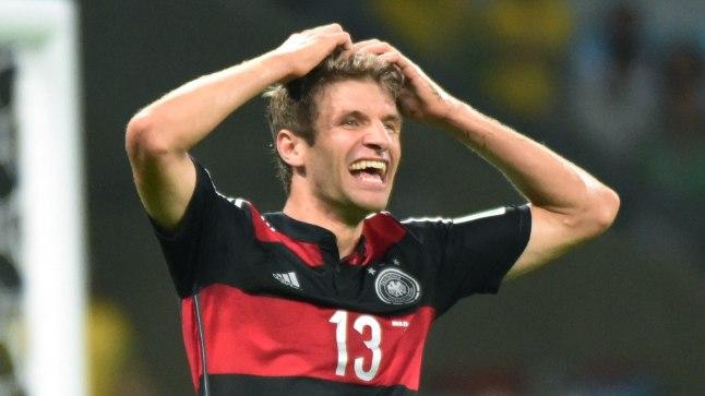 Saksamaa jalgpallikoondise ründaja Thomas Müller.