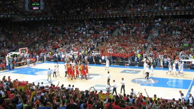 Hispaania koondis pärast võidukat mängu Argentiinaga.