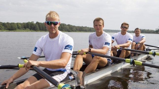 LOOTUSRIKAS PILK: Kaspar Taimsoo (vasakult), Sten-Erik Anderson, Allar Raja ja Kaur Kuslap on tuleviku suhtes optimistlikud.