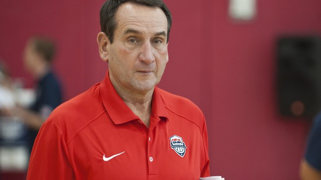 USA korvpallikoondise peatreener Mike Krzyzewski.