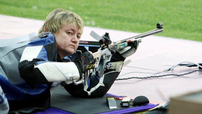 Eesti parim laskur Anžela Voronova Londoni olümpial.
