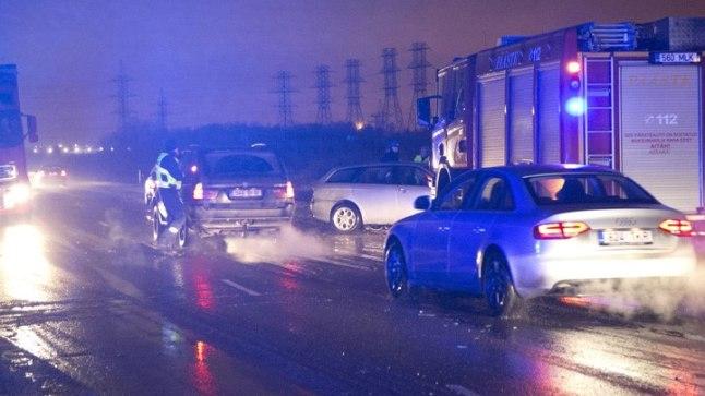 Mitme auto kokkupõrge Tallinna ringteel 8. jaanuaril 2015.