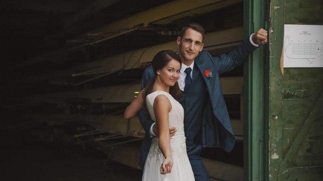 VÄRSKE ABIELUPAAR: Kerstin ja Allar Raja abiellusid 19. septembril Pärnu sõudebaasis.