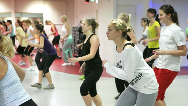 Zumba treening. Foto on illustratiivne.
