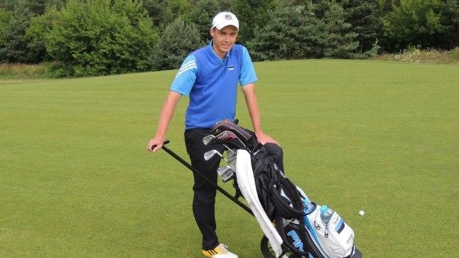 Eesti golfikoondise treenet Egert Põldma.