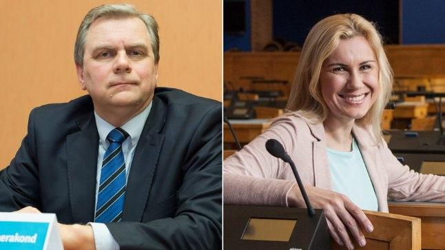 Vasakult: Vabaerakonna juht Andres Herkel ja Keskerakonna aseesimees.