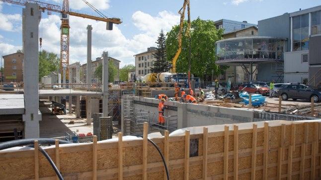 Tööõnnetuste arvu kasvu on näha ehitussektoris kus tänavu on toimunud juba 133 tööõnnetust. Pilt on illustratiivne.