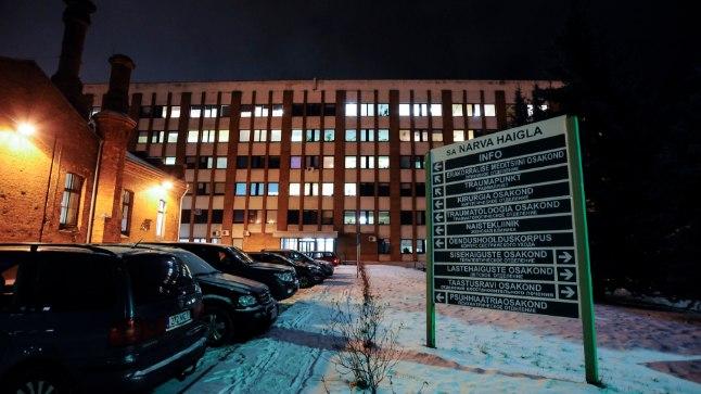 KUKKUS ALLA: Narva haigla aknast  alla kukkunud naine suri.