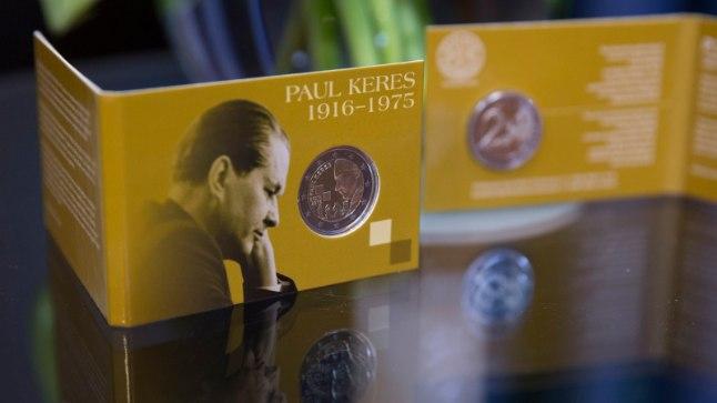 Paul Keres 100 - 2-eurose mälestusmündi ja postmargi esitlus Eesti Panga muuseumis.