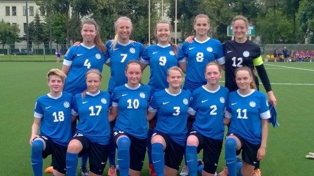 Neidude U19 jalgpallikoondis.