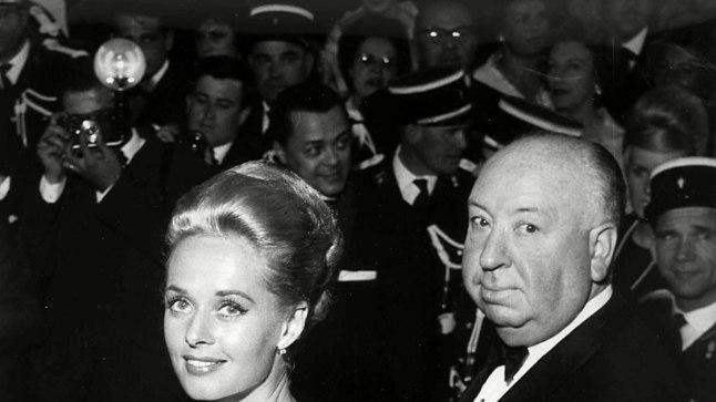 Tippi Hedren ja Alfred Hitchcock 1963. aastal Cannes'i filmifestivalil.