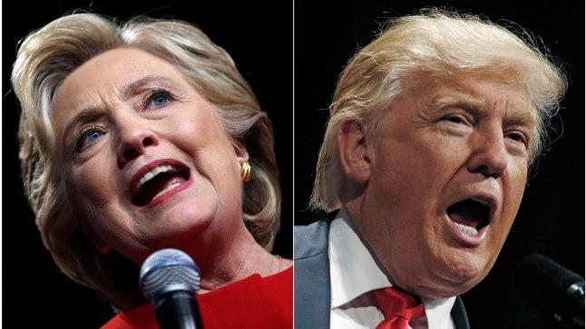 KAKS KANGET: USA tänastel presidendivalimistel selgitavad võitja demokraat Hillary Clinton (69) ja vabariiklane Donald Trump (70).