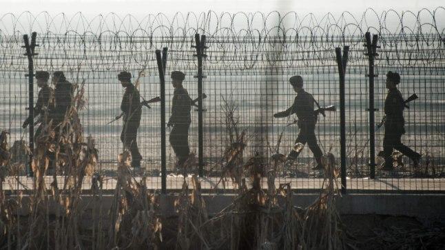 Põhja-Korea sõdurid.
