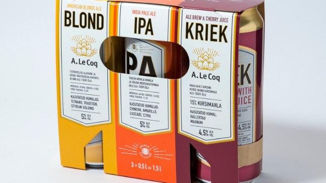 A. Le Coq uued õlled:  Blond, Ipa ja Kriek.