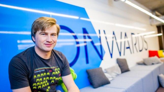 Üks Transferwise asutajatest ja omanikest Kristo Käärmann TransferWise''i kontori puhketoas.