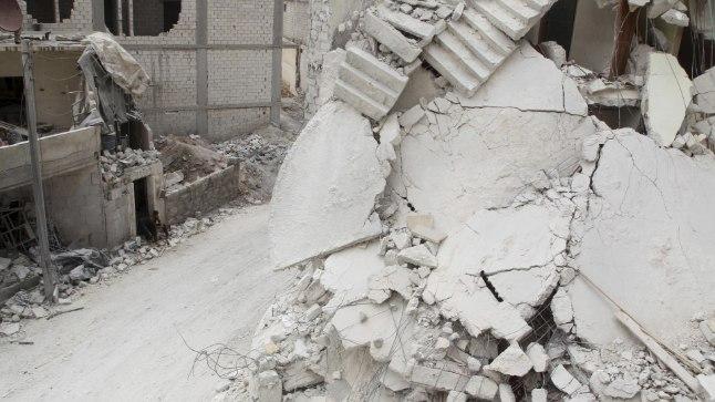 Sõjapurustused Süürias.
