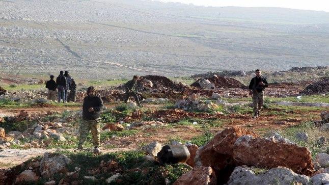 Süüria vabastusarmee võitlejad Aleppo ligidal