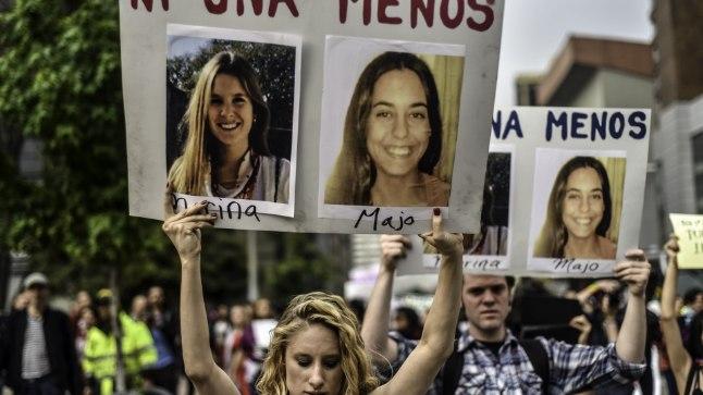 Pärast traagilist juhtumit toimus Kolumbia pealinnas Bogotas meeleavalus naistevastase vägivalla vastu.