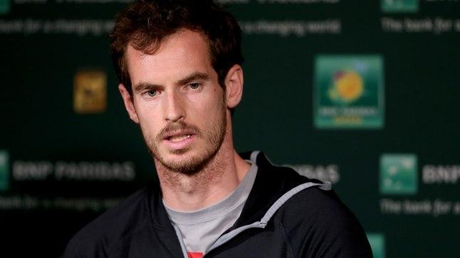 Meeste tennise maailma teine reket Andy Murray.