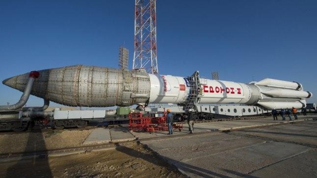 Vene rakett Proton Kasahstanis Baikonuri kosmodroomil 11. märtsil 2016. Start on planeeritud 14. märtsiks.