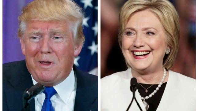 Donald Trump ja Hillary Clinton