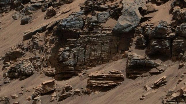 Marsikulguri Curiosity foto Marsilt. Miljonite aastate eest asus siin järv.