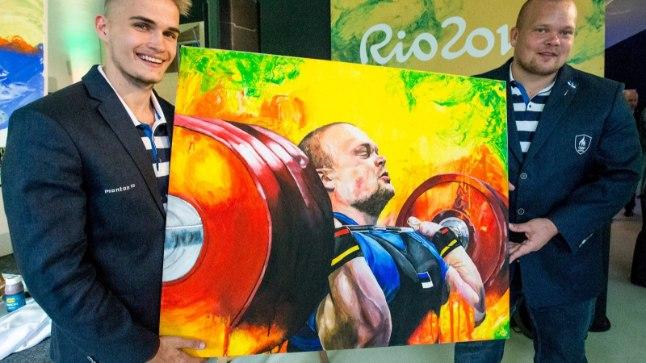 3834193de96 Olümpiasportlased lõuendile maalinud noor kunstnik Karl Markus Antson:  muidu näevad inimesed vaid rõõmu, aga mina tahtsin esile tuua kogu  sportlase ...