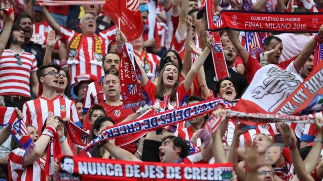 Madridi Atletico fännid