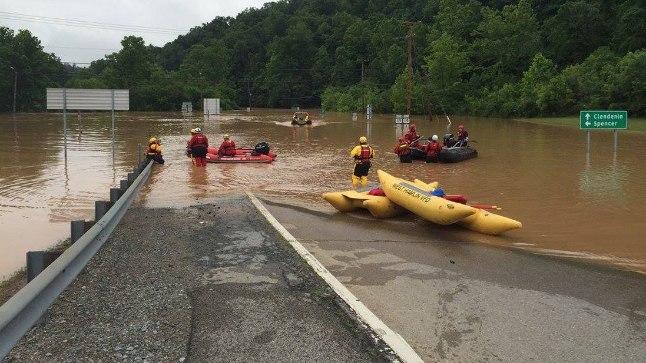 Üleujutused USA Virginia osariigis 24. juunil 2016.