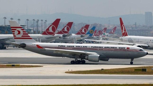 Turkish Airlinesi lennukid.
