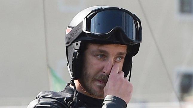 Pierre Casiraghi oli sunnitud katamaraani uppimineku tõttu võistluse katkestama.