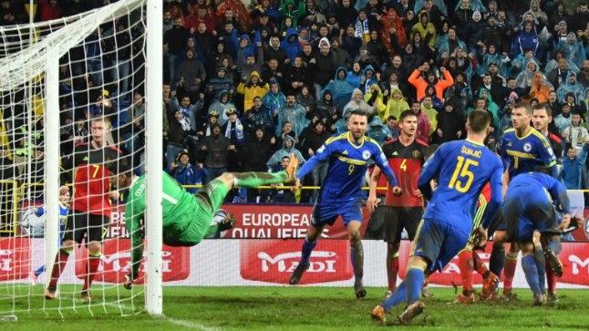 Hetk laupäevasest mängust Bosnia ja Hertsegoviina - Belgia.